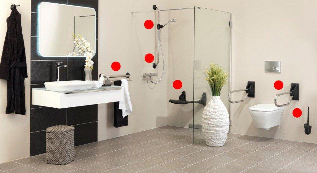 Adapter une salle de bain à des personnes à mobilité réduite